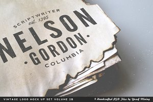 Vintage Logo Mock Up Set Volume 2B