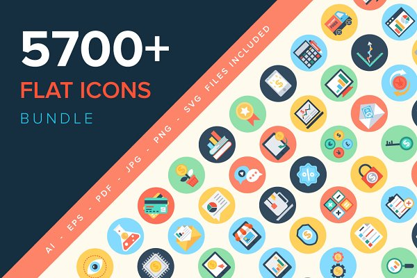 5700+ Flat Icons Bundle