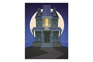 Cartoon Haunted House