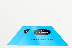 A4 Flyer Mockup vol 1