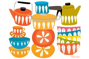 Retro Kitchenware still life