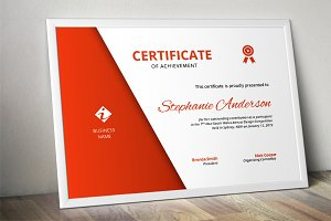 Simple corporate certificate