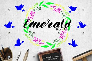 Emerald Brush Font