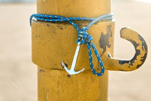 Colorful silver anchor wristband