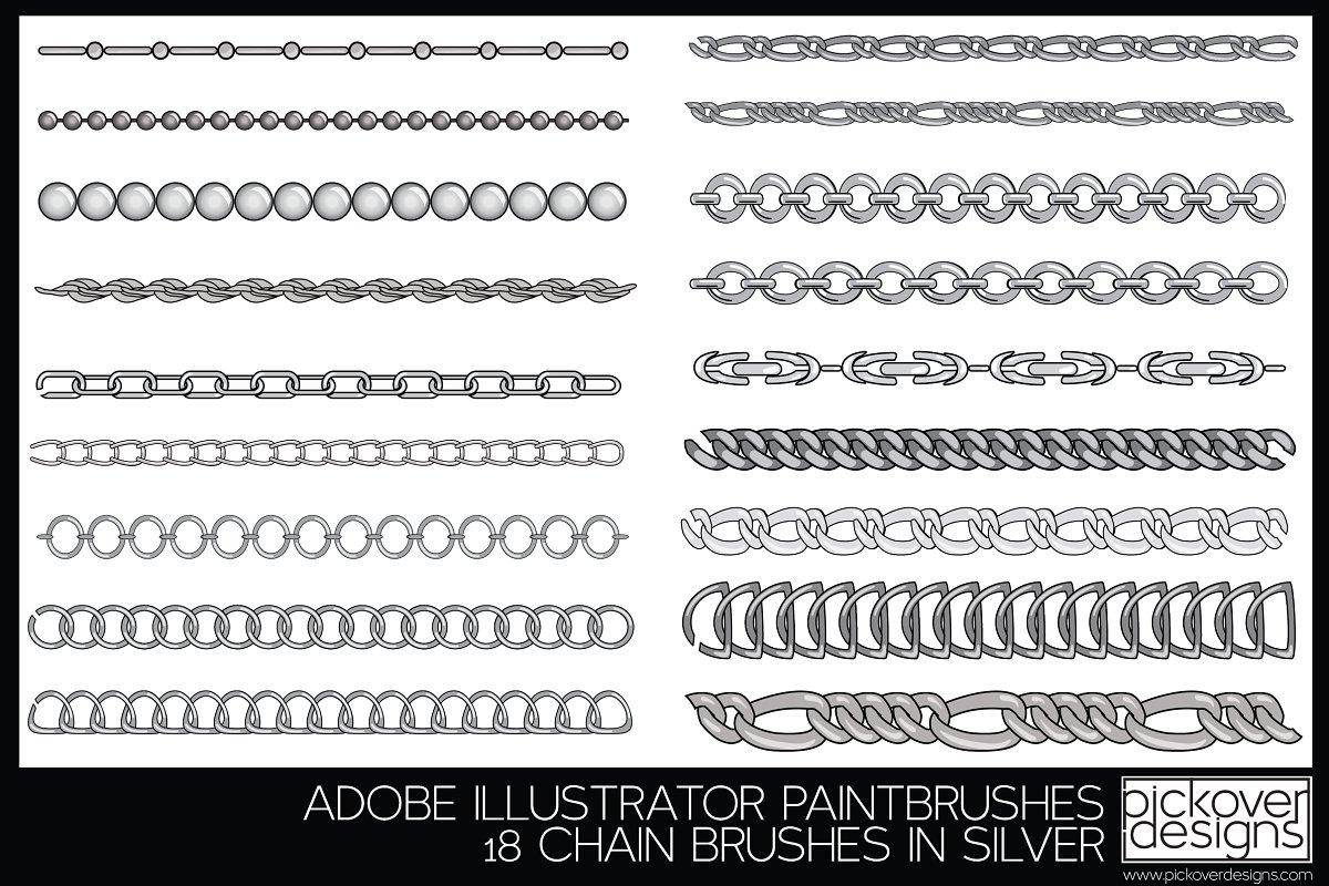 18 Vector Chain Brushes Illustrator ~ Illustrator Add-Ons