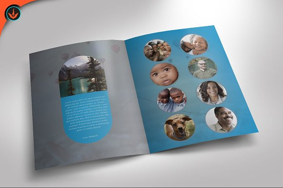 Baby Blue funeral Program Brochure Templates on Creative Market – Child Funeral Program Template