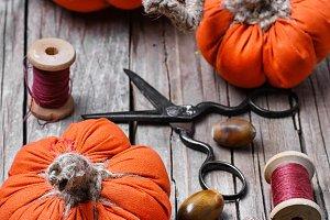 Crafts with pumpkins