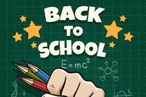 Children back to school poster