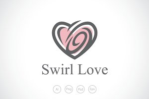 Swirl Love Logo Template