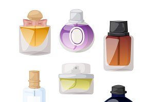 Vector perfume fashion container