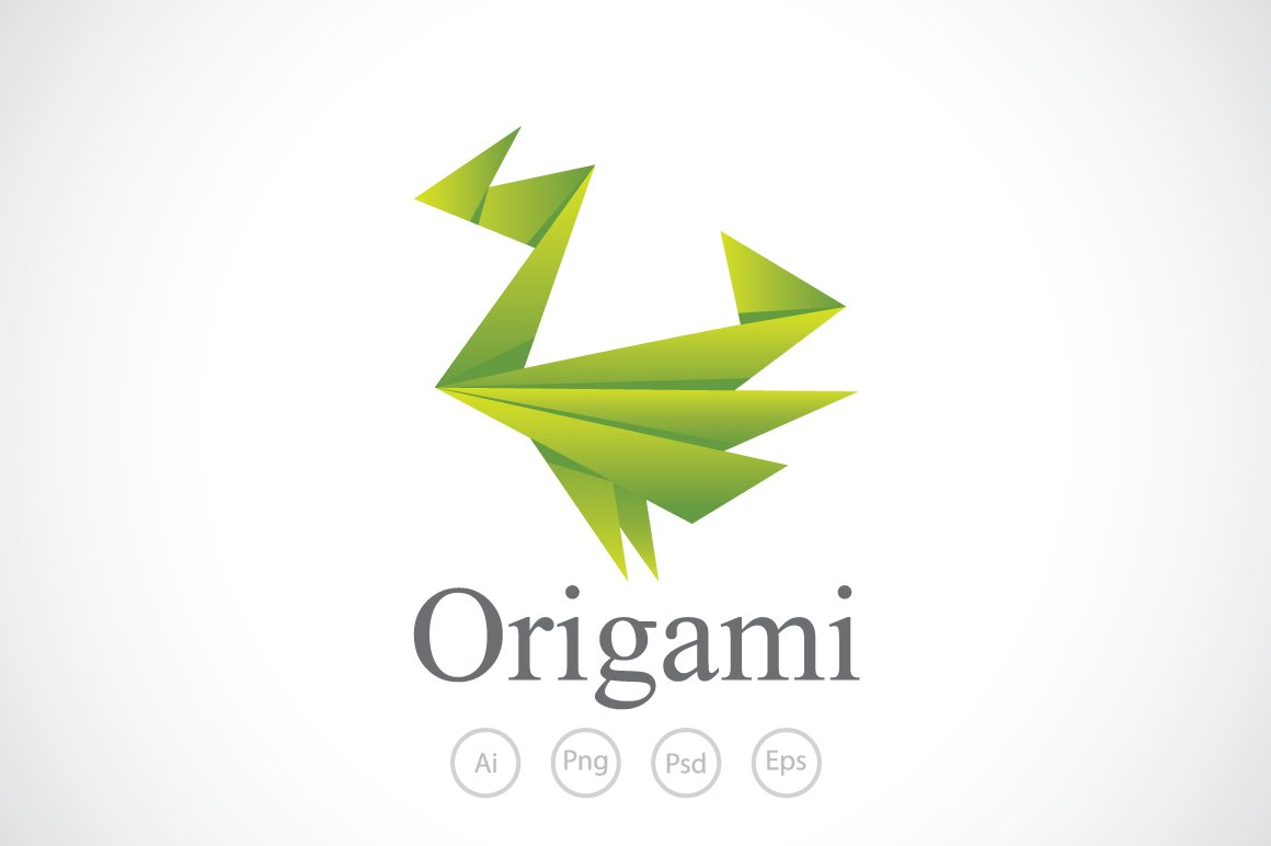 Flappy Origami Paper Logo Template Templates Creative Market