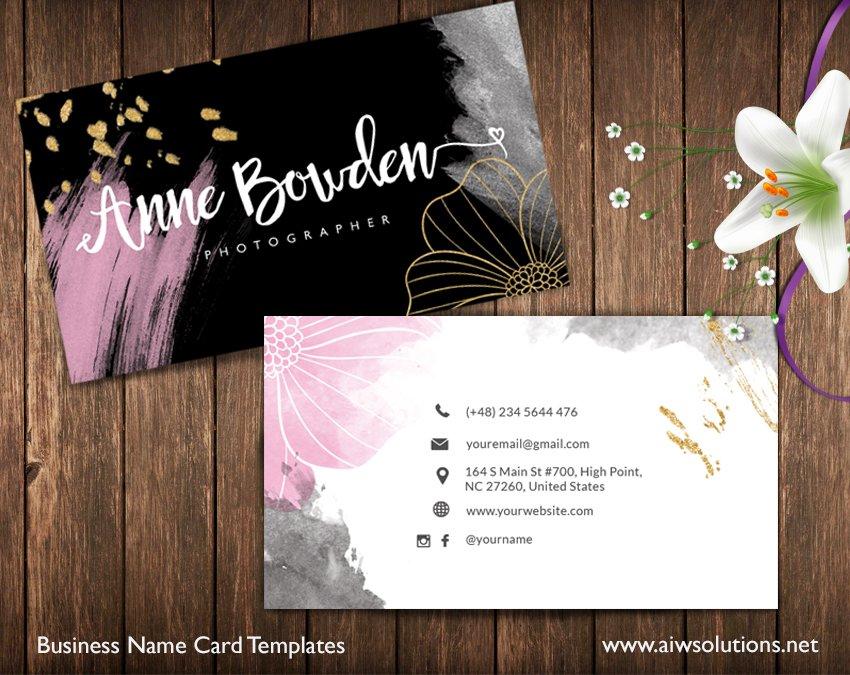 Colour Name Card-id25 ~ Business Card Templates ~ Creative Market