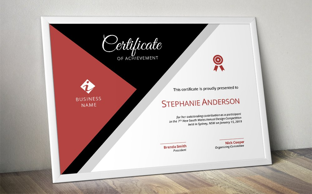 modern corporate certificate stationery templates