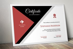 Modern corporate certificate