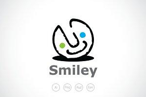 Happy Smiley Logo Template