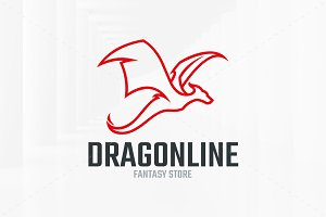 Dragon Line Logo Template
