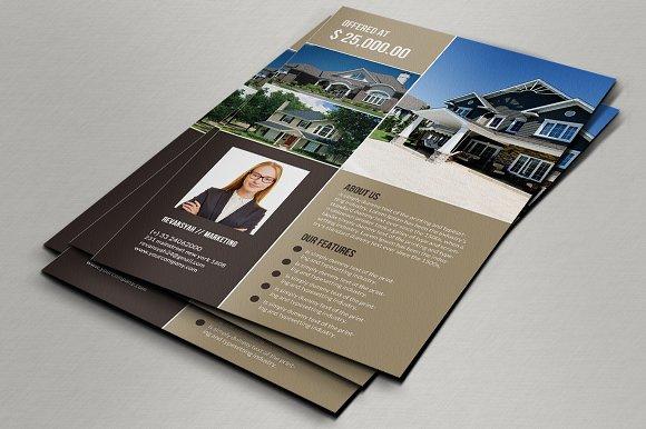 real estate flyers flyer templates creative market