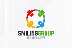 Smiling Group Logo Template