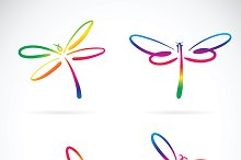 Vector group of dragonfly.
