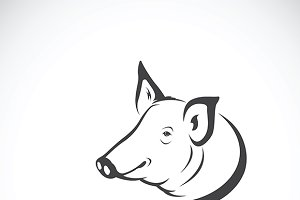 Vector of a pig logo.