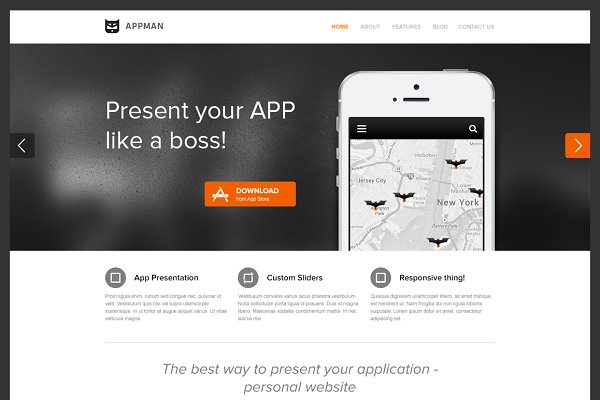 WordPress Landing Page Themes: S4 Shop - AppMan - WordPress Theme for Apps