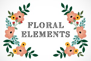 Romantic floral elements