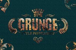 36 Grunge Style Photoshop V01