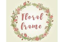 Decorative floral frame