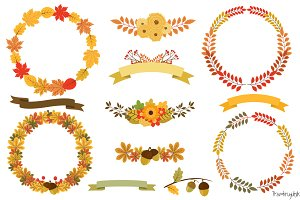 Autumn wreath clip art