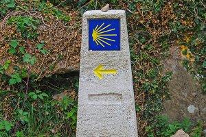 Milestone in Camino de Santiago