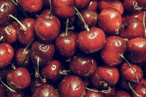 Cherry vintage desaturated