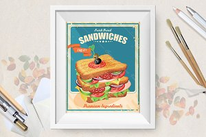 Sandwiches. American style.