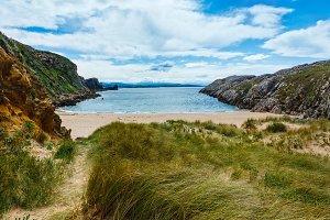 Sunshiny sandy beach (Spain)