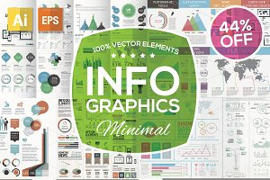 Minimal Infographic Kit - 44% OFF