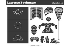 Vector lacrosse game design elements