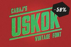 USKOK Vintage Font | -50% off