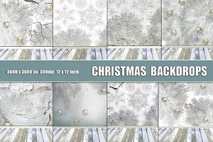CHRISTMAS background backdrop white