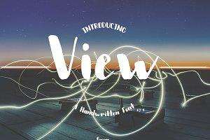 View - Handwritten Font