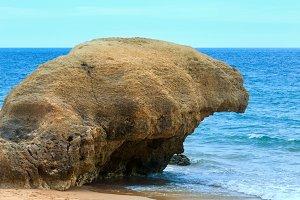 Albufeira beach (Algarve, Portugal).