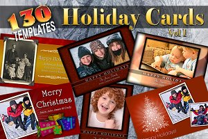 Holiday Cards V1 Photoshop Templates