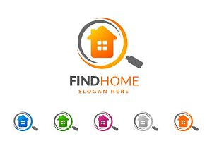 Real estate logo,find home,search v3
