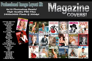 Magazine Covers V1 Photoshop Templat