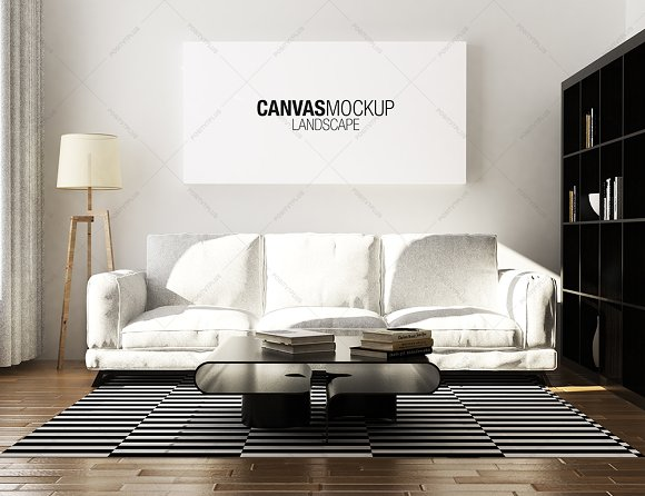 Canvas Mockup Scandinavian Product Mockups Creative Market