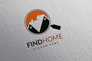 Real estate logo,find home,search v4