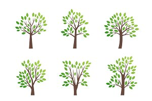 Stylized vector tree logo