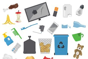 Vector garbage for recycling