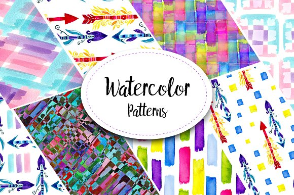 Amazing Watercolor Patterns
