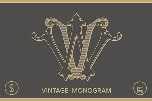 VW Monogram WV Monogram