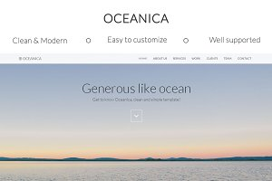 Oceanica - Responsive HTML template