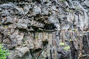 Massive rocks background in Iceland